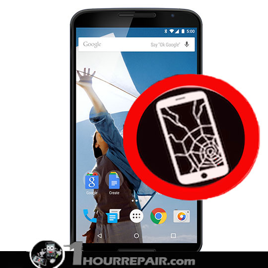 Moto nexus 6 Cracked Screen