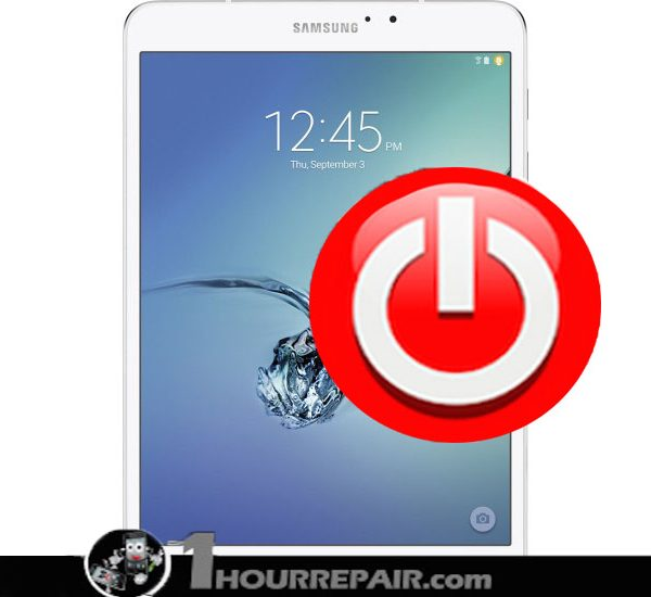 Samsung Tab S2 8%22 power button